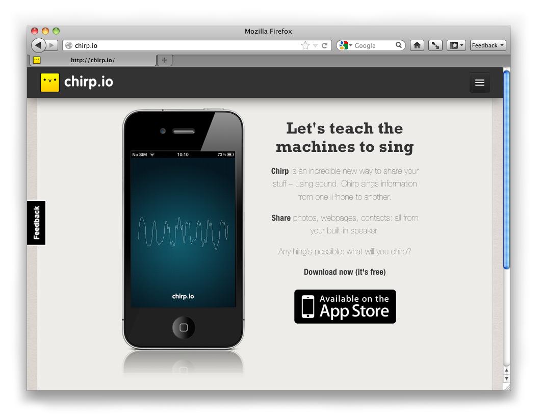 Robotic bird song meets sonic branding?