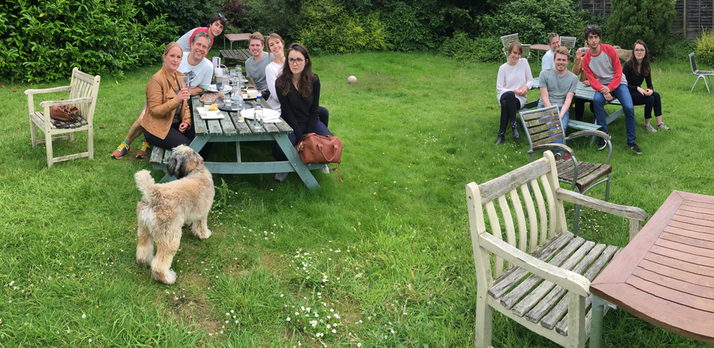 Team lunch to welcome our new designers